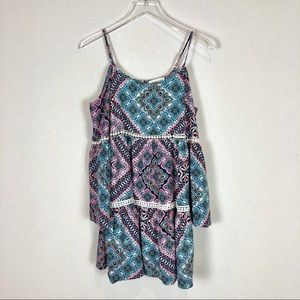 Sugar lips boho mini dress size S
